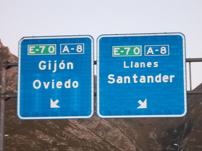 """E-70 / A-8 Highway """"Autovía del Cantábrico""""."""