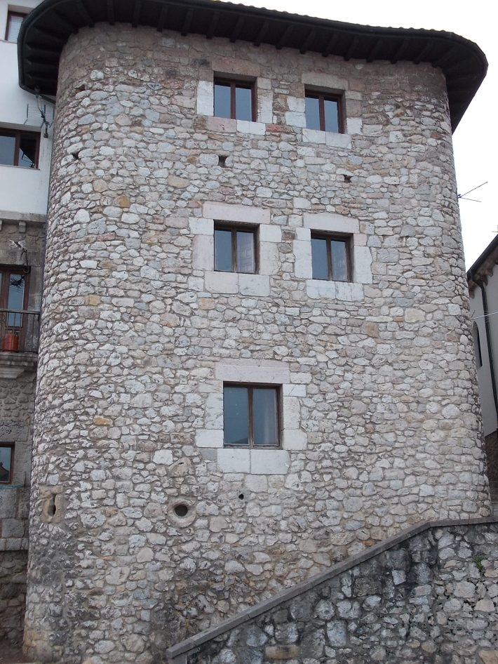 Stone tower.