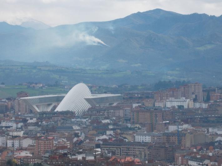 The Calatrava Auditorium, a modern landmark of Oviedo.