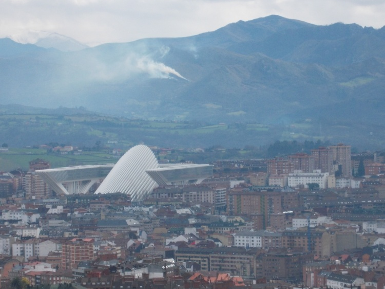The Calatrava Auditorium, a modern landmark of Oviedo.