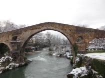 Roman Bridge in Cangas de Onís.