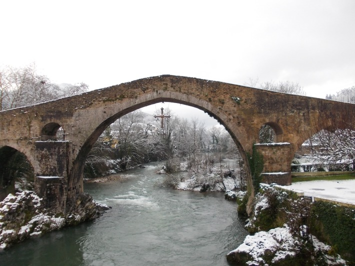 Roman Bridge in Cangas de Onís.